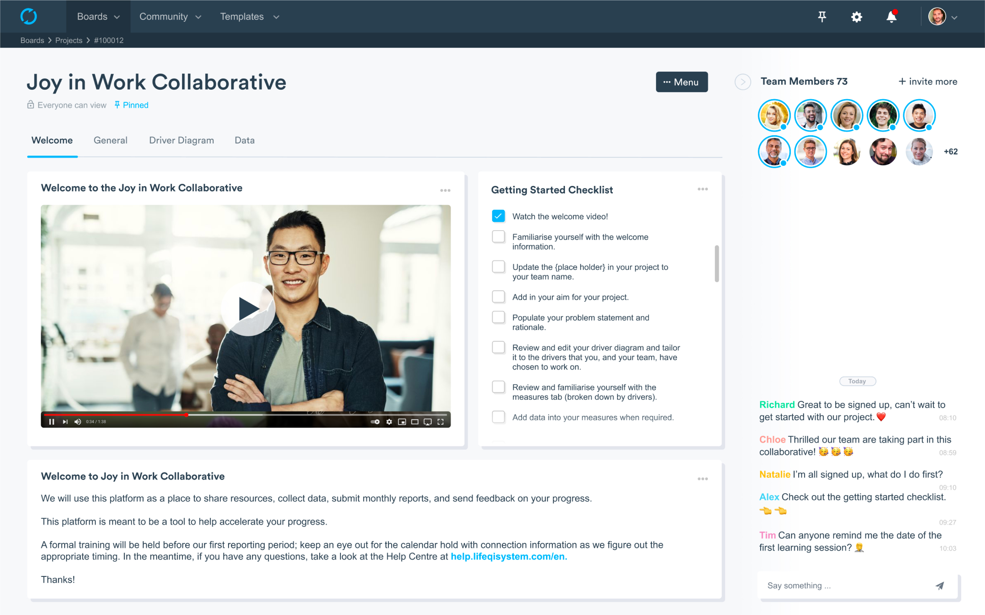 Create your own Collaborative welcome page